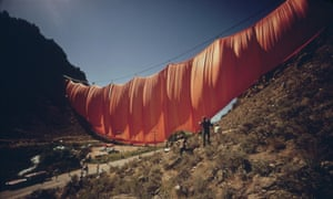 One-day wonder … the 400-metre, six-tonne curtain across Rifle Gap, Colorado.