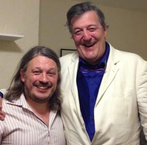 Richard Herring with Stephen Fry.