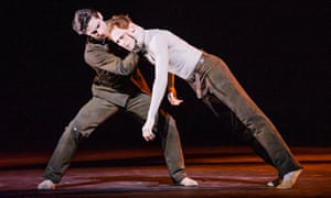 Watson, right with Tristan Dyer, in Woolf Works at the Royal Opera House.
