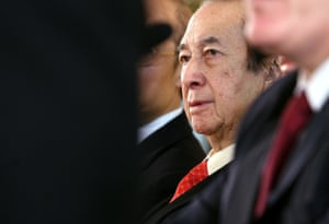 Stanley Ho at the launch of his company's flagship casino Grand Lisboa in Macau in 2007