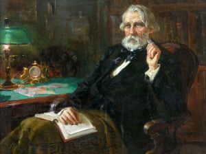 Portrait of Ivan Turgenev by AI and LI Kurakovs.