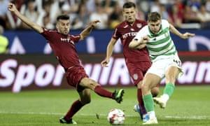 James Forrest scores Celtic's equaliser in Romania