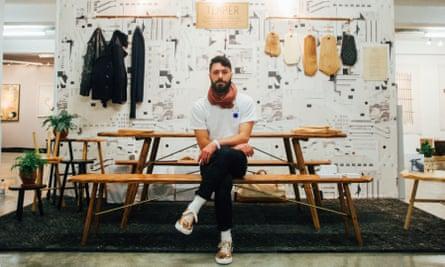 Sitting pretty: George Winks of Temper Studio.