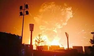 Massive explosion rocks Tianjin, northern China