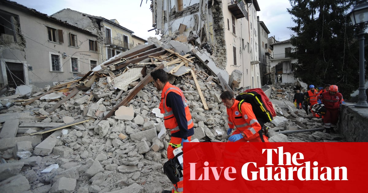 98b2cfd8a7d21c Central Italy earthquake  death toll rises to 120 – as it happened ...