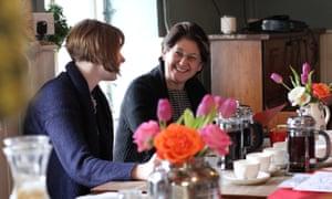 Sue Richardson with Kelly Mundt