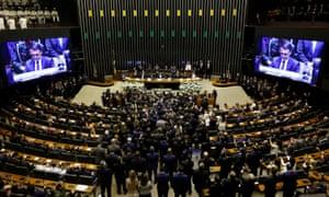 Jair Bolsonaro takes office as Brazil's PresidentBrazil's new President Jair Bolsonaro is sworn in at Brazil's National Congress, in Brasilia, Brazil January 1, 2019. REUTERS/Adriano Machado