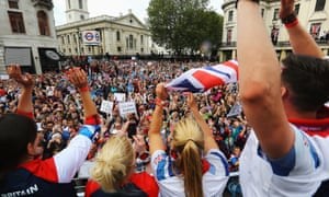 The London 2012 victory parade for Team GB and Paralympics GB athletes through central London on 10 September 2012.