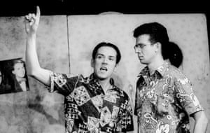 Ben Miller and Simon Godley in Huge by Jez Butterworth at the King's Head, Islington, 1993.