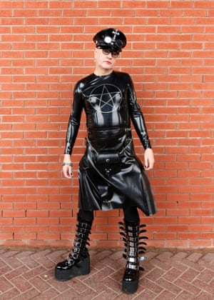 Escapism on a big scale is how Adrian Crawley from Peterborough describes the event. Adrian wore an industrial Goth costume which was last year's Christmas present from his wife