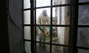The Brazilian government fumigates houses to prevent the possible spread of the mosquito that transmits the Zika virus.