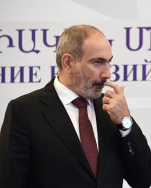 The prime minister of Armenia, Nikol Pashinyan