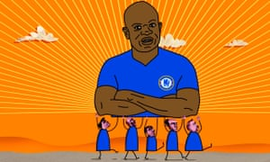 Illustration of N'Golo Kanté by Cameron Law