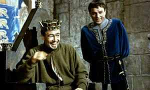 Peter O'Toole and Richard Burton in Becket, 1964, for which Anne V Coates received an Oscar nomination.