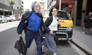 Geoffrey Rush with his wife Jane Menelaus