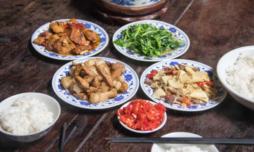 It is seen as polite to order more food than needed in restaurants in China.