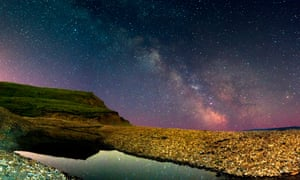 The Milky Way over Compton Bay, Isle of Wight.