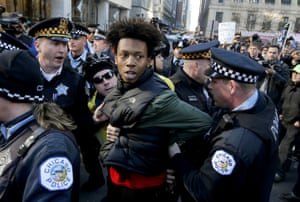 Lamon Reccord is taken into custody by Chicago police