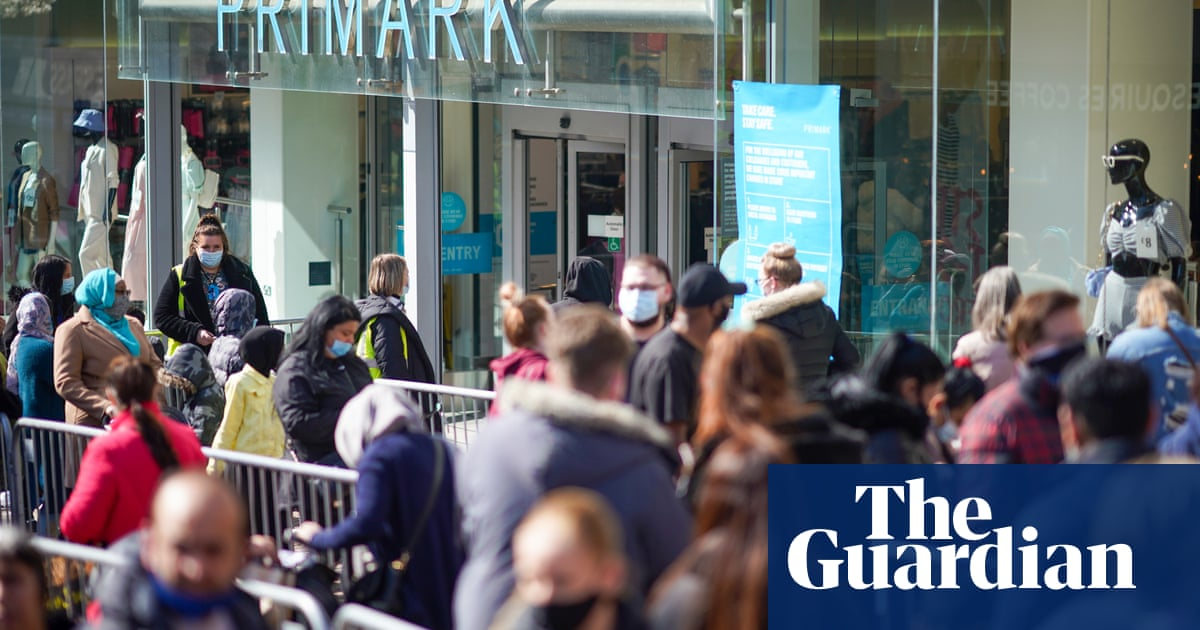 Primark reports record sales as Covid lockdown eases in England and Wales