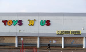 Closing down signs are displayed on the Toys R Us store in Coventry, UK.