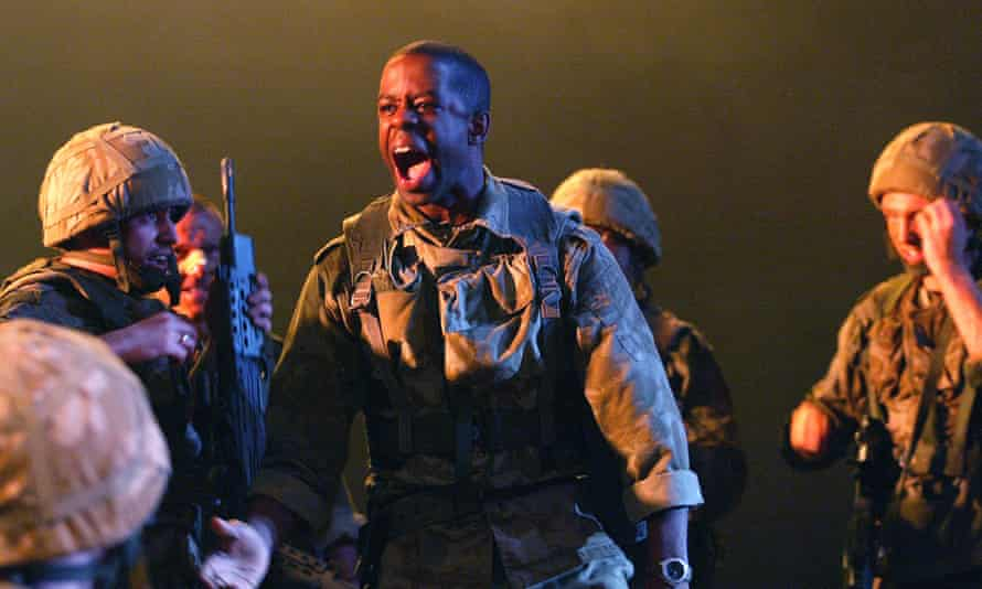 On stage in Henry V at the National.