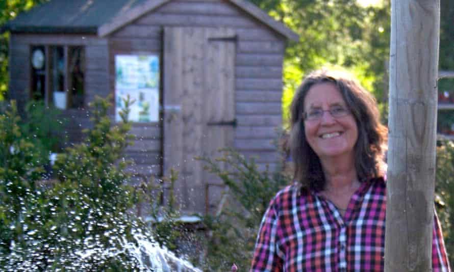 Davina Wynne-Jones in her garden at Barnsley in the Cotswolds
