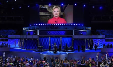 Hillary Clinton appears live via video link Democratic National Convention