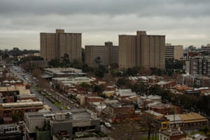 The view from the 141 Nicholson Street flats, towards the Lygon Street flats