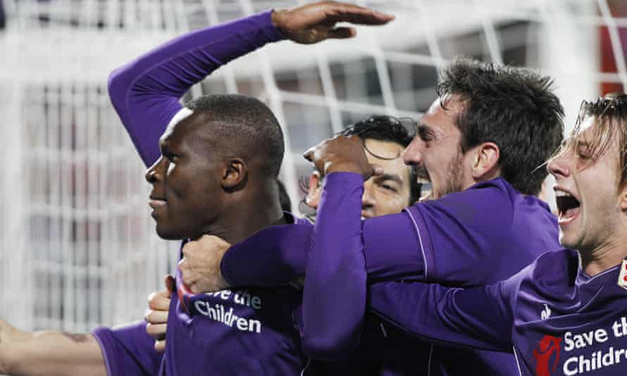 Khouma Babacar (left) is wanted by Roy Hodgson to boost Crystal Palace's striking strength