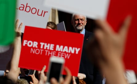 Jeremy Corbyn, the leader of Britain's opposition Labour party, attends a campaign event in York.