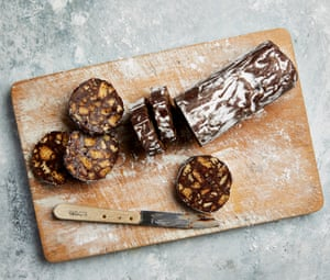 Yotam Ottolenghi's pecan and gingernut chocolate salami