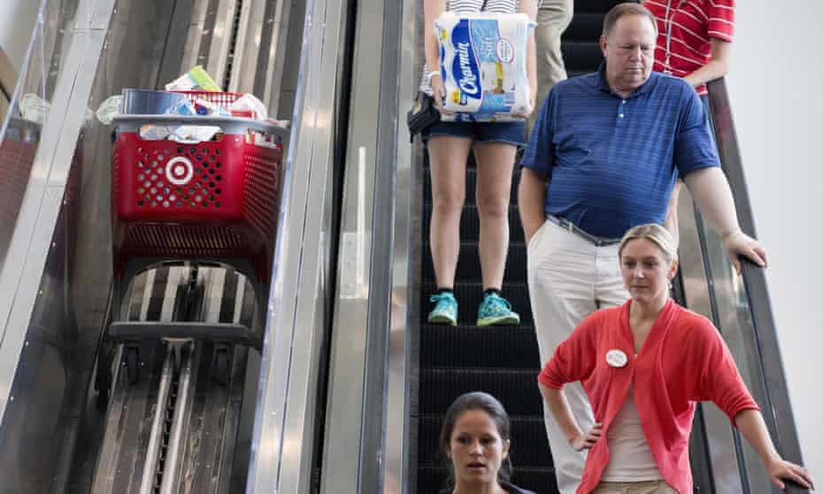 Shoppers at Target