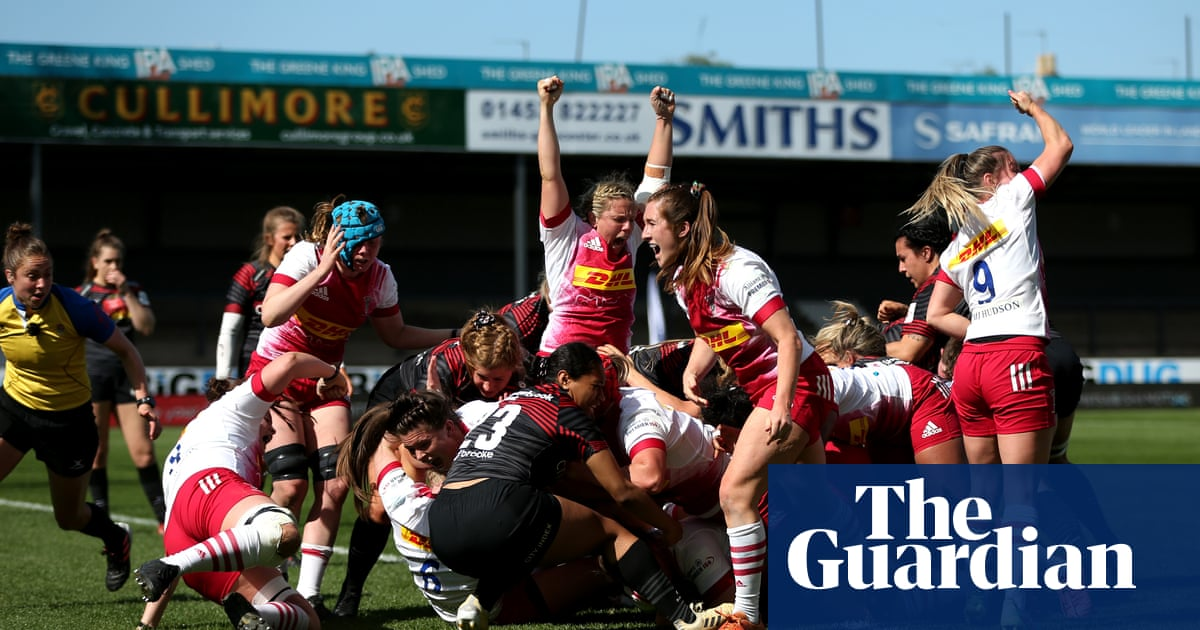 Amy Cokayne doubles up as Harlequins beat Saracens for first Premier 15s title