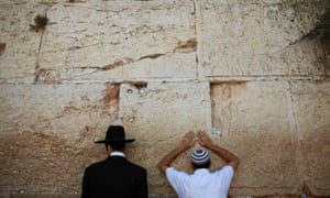 Prayers at the Western Wall, Jerusalem