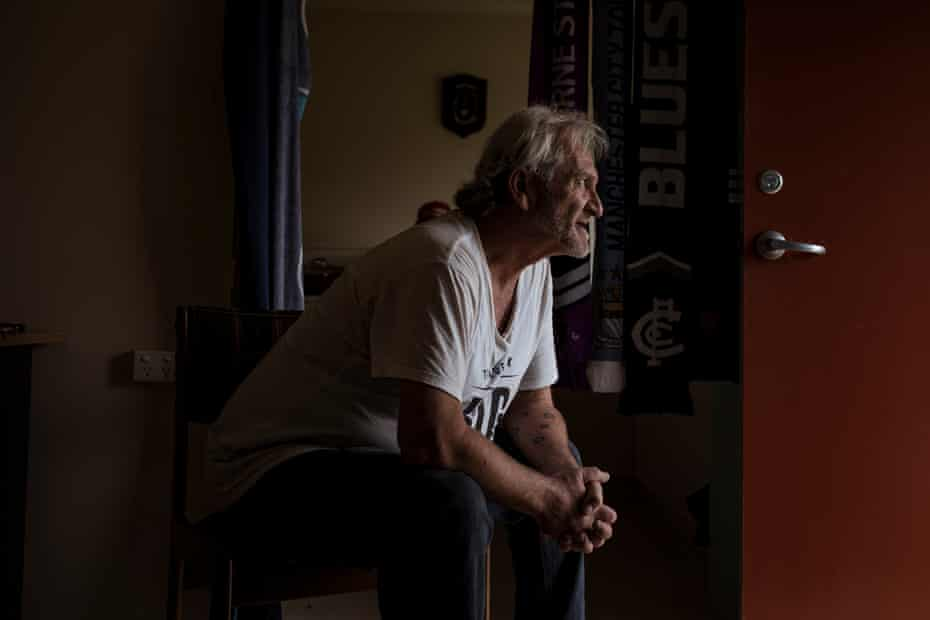Portrait of Mark Lanyon at his home in Foster, Victoria.
