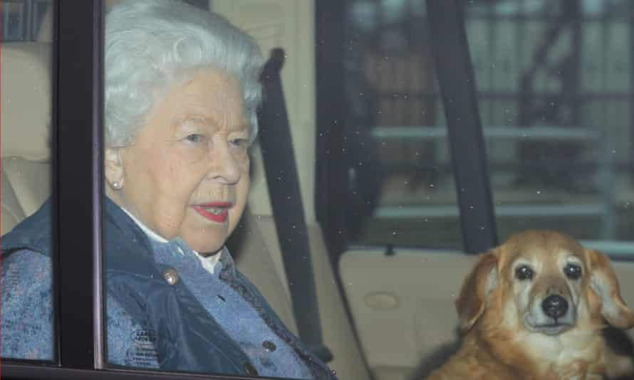 The Queen leaving Buckingham Palace for Windsor Castle.