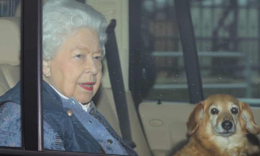 Queen Elizabeth II leaves Buckingham Palace, London, for Windsor Castle.