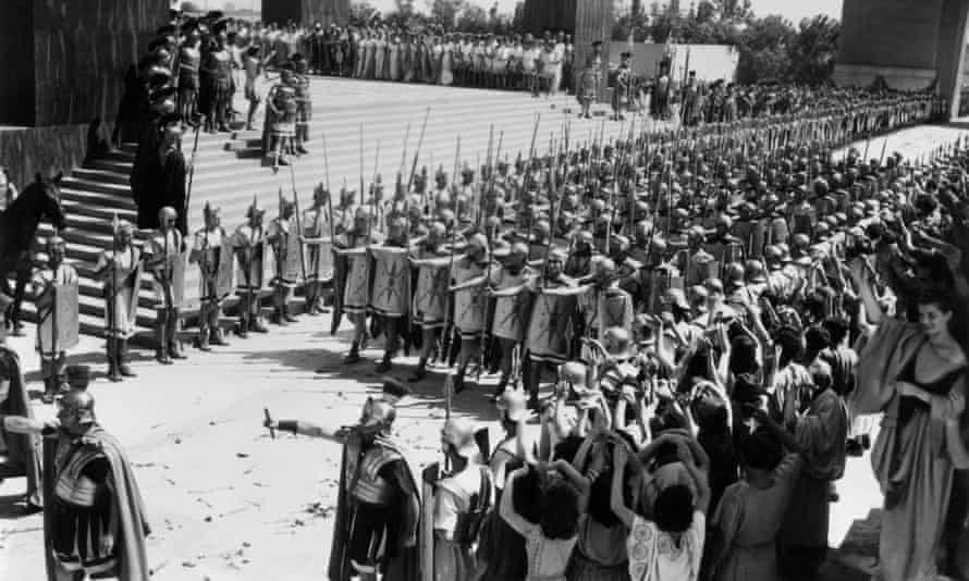 Blistering pace? ... Roman legion on the march in the 1951 film Quo Vadis?