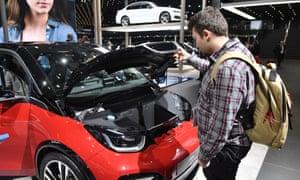 The new BMW i3s car at the Frankfurt Motor Show.
