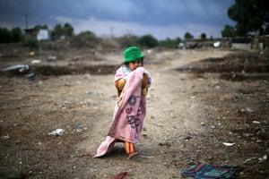 Khan Younis, Gaza Strip: A Palestinian girl