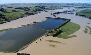 Flood water from the River Mataura