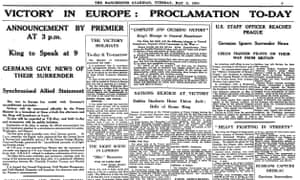 VE Day, The Guardian, 8 May 1945.