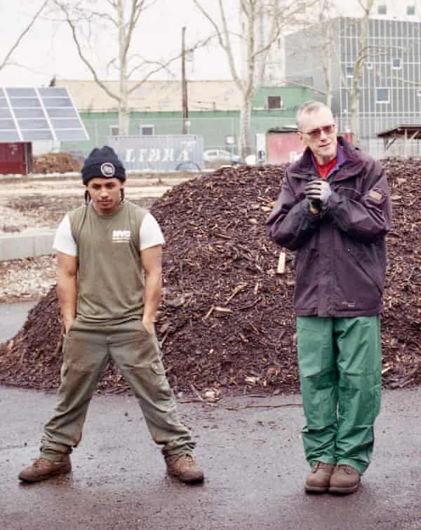 David Buckel with Domingo Morales at the Red Hook Community Farms.