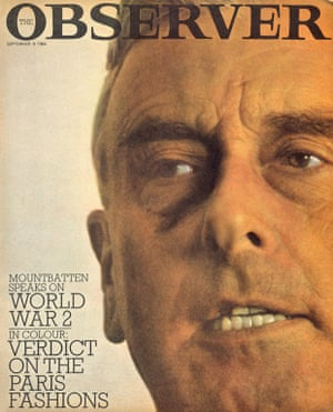 6 September 1964. The first issue of the Observer Magazine appears, prompted by strong growth in colour advertising and the novelty of colour photography in a black and white newspaper.