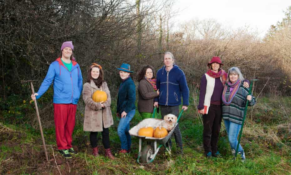 Members of the Heartwood community in Carmarthenshire.