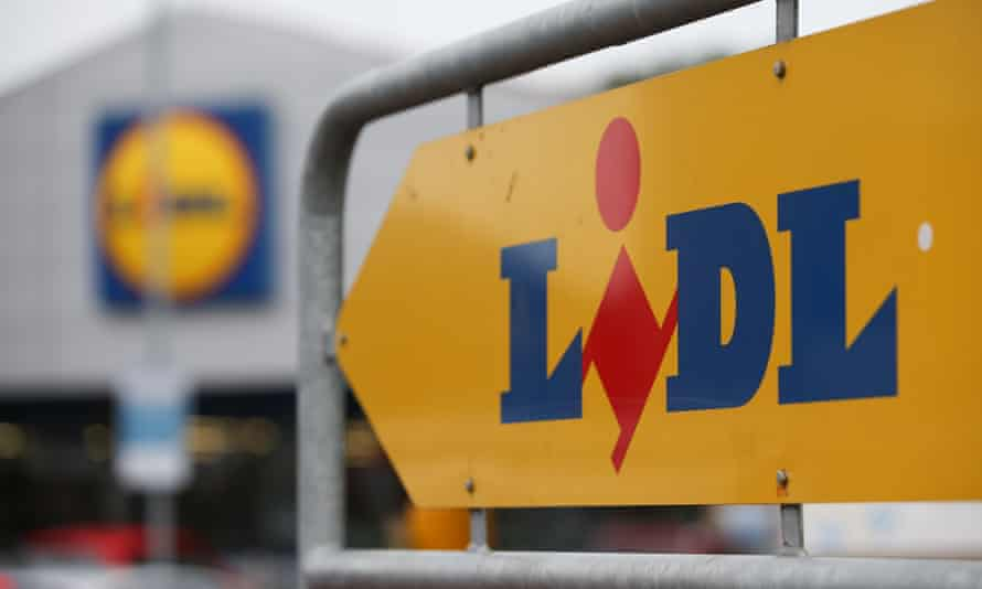a Lidl sign and store