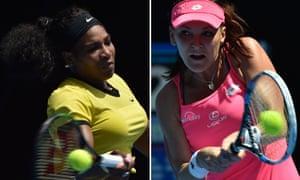 Serena Williams plays Agnieszka Radwanska at the 2016 Australian Open