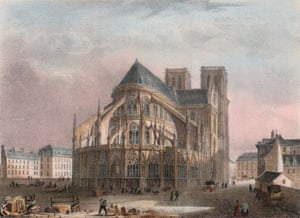 A 19-century coloured lithograph of the cathedral