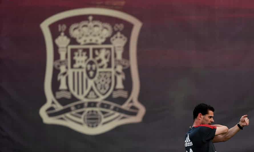 Spain's coach, Fernando Hierro, is well thought of by his former players.