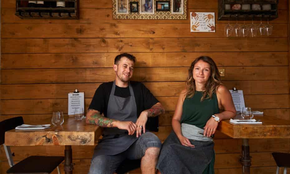 Chef Ben Crittenden and wife Sophie in their Broadstairs restaurant, Stark.